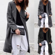 Turn-down Collar, casual coat, Fashion, women coat