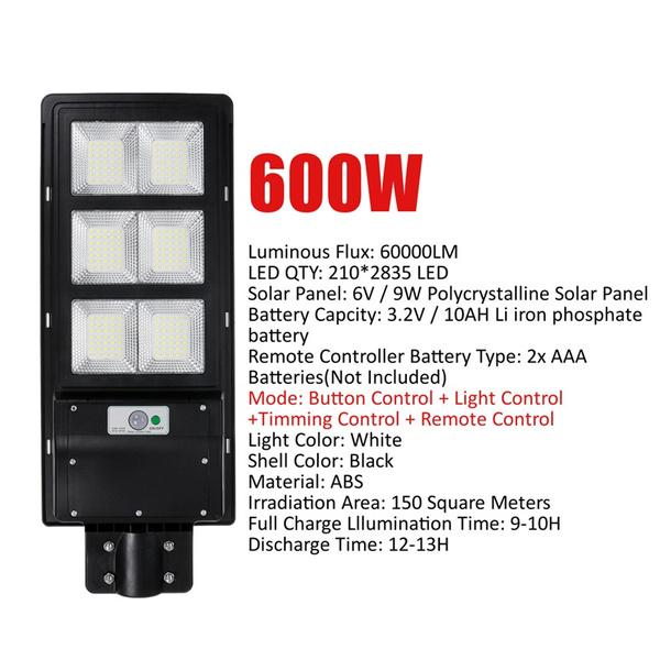 300 600 900w Led Solar Street Light