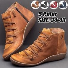 Plus Size, Medieval, flatheelboot, leather