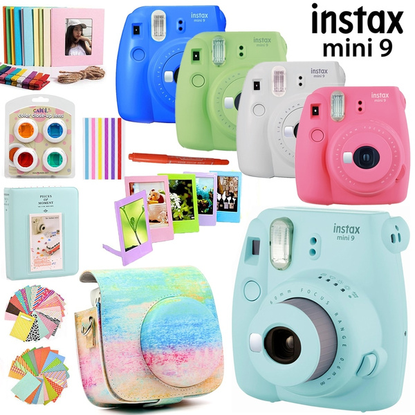 Fujifilm Instax Mini 9 Camera Only / With 50 Sheets White Mini Film Photos / 13 In 1 Kit Case Bag+Sticker + Other Accessories by Wish