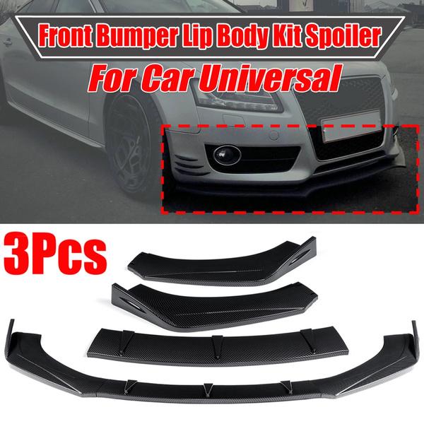 Universal Front Bumper Lip Body Kit Spoiler Fit BMW Audi Benz Ford Honda Subaru~
