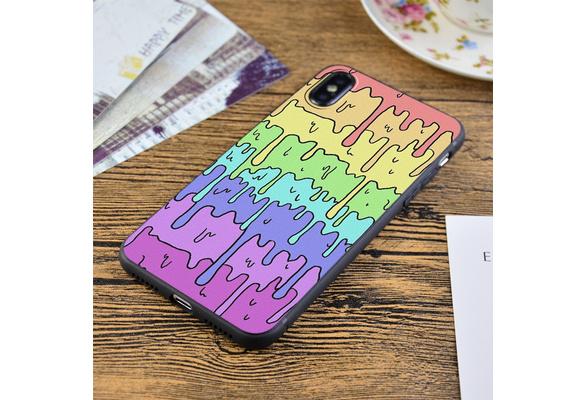 Pastel Kawaii Melting Rainbow Design iphone 11 case