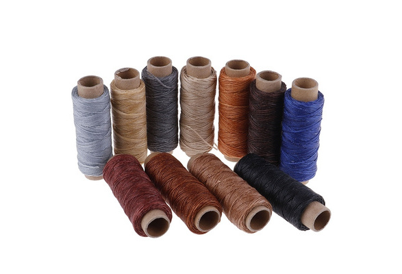 50M Leather Sewing Flat Waxed Thread Wax String Hand Stitching Craft 150D