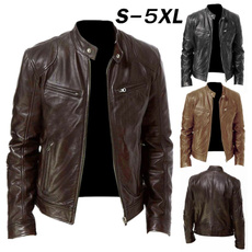 Vintage, bikerjacket, Fashion, Long Sleeve