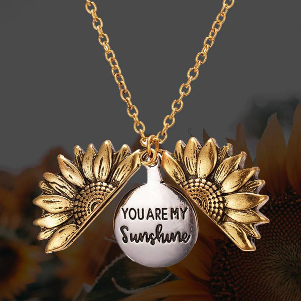 flowersnecklace, friendshipnecklace, Jewelry, Sunflowers