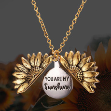 flowersnecklace, friendshipnecklace, Jewelry, Sunflowers