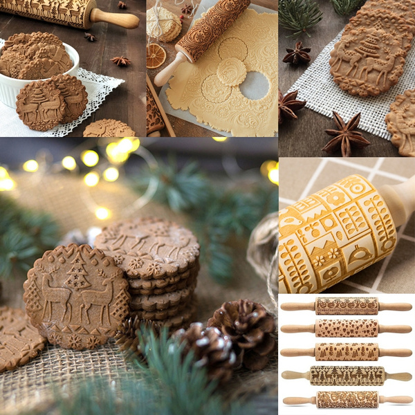 Baking, Christmas, Pins, Wooden