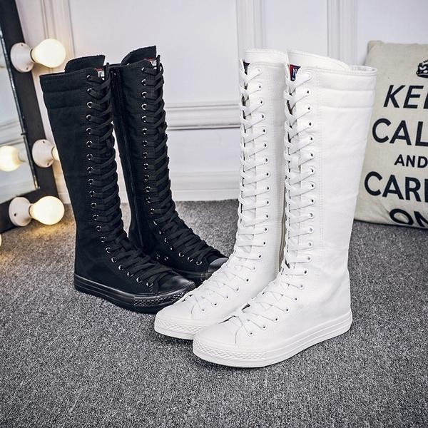 Women Punk EMO Knee High Shoes Causal