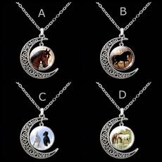 horse, Fashion, crescentmoonpendant, crescentmoon