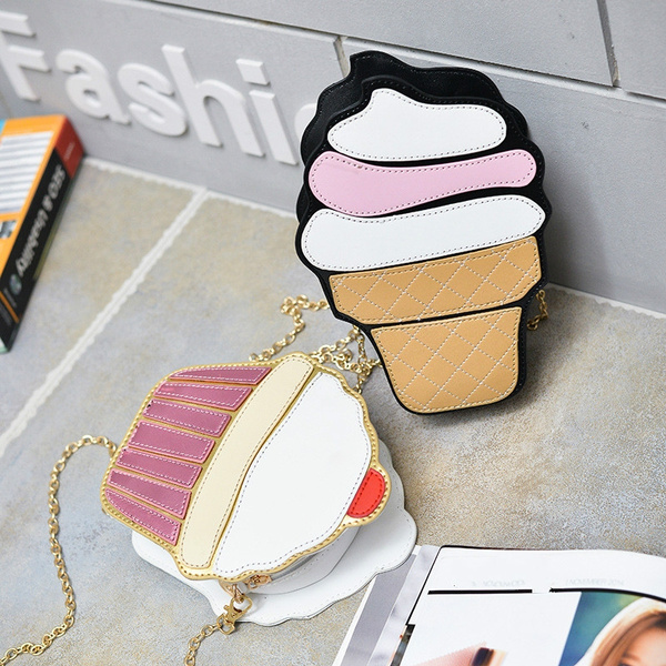 Children's Bag Cartoon Cute Ice Cream Cake Small Bag Chain Mini Bag Girls Fashion Diagonal Package by Wish