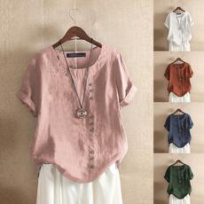 blouse, Cotton, Fashion, buttondowntop