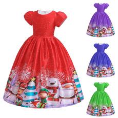 kids, girls dress, short sleeve dress, Cosplay