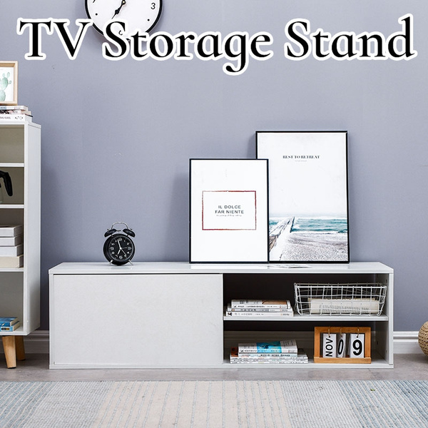 Nordic Fashionable Design Home Living Room Tv Stand Home Decorative Bright White Contemporary Tv Cabinet Fr Wish