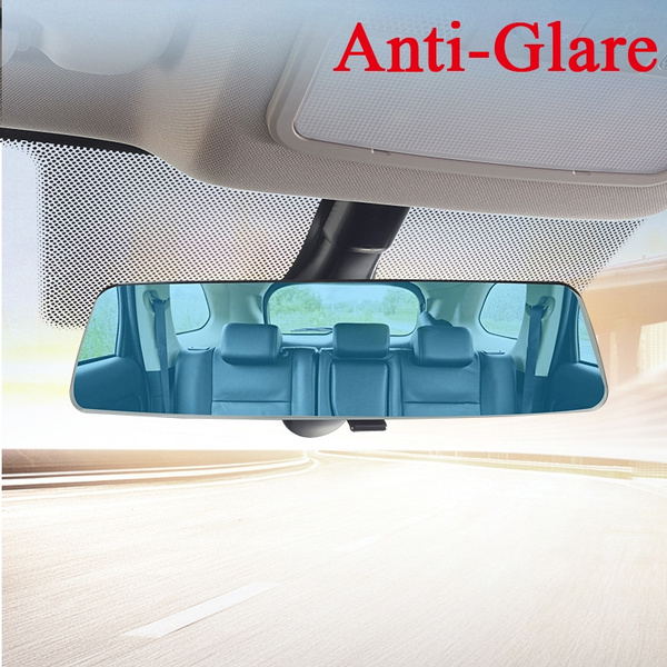 Universal 12 Inch Rearview Mirror Clear Tint Wide Angle - Interior Curved Convex Updated Model Fits All Vehicles Clip On SUV Truck For Use in Car