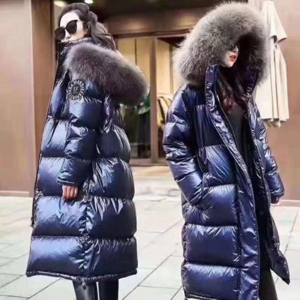 Fashion Womens Winter Warm Hooded Long Fur Down Jacket Parka Loose Outwear Coat