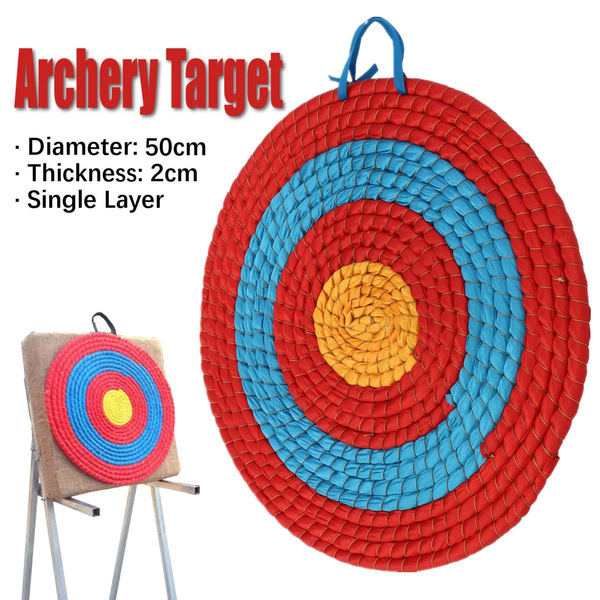 Single Layer Grass Archery Target Shooting Practice Outdoor Sport Accessory 55cm