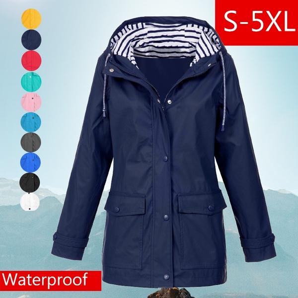 Fashion, waterproofcoat, Plus Size, Spring/Autumn