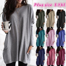 shirtsforwomen, Plus Size, Winter, long sleeved shirt
