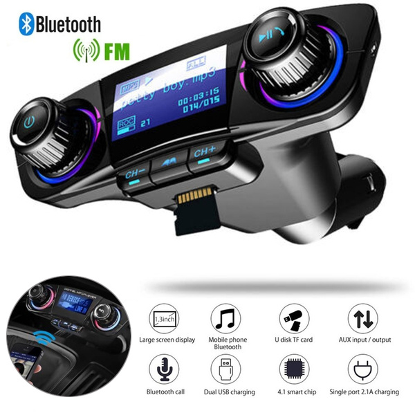 Wireless Bluetooth Handsfree FM Transmitter Car Kit Stereo MP3 Dual USB Chargers
