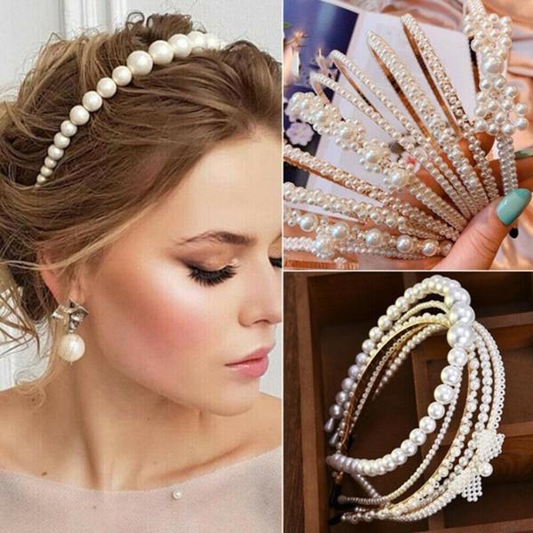 pearlhairband, eleganthairhoop, hairornament, Jewelry
