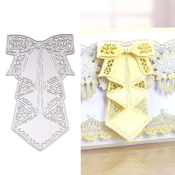 Big Waterfall Bow Metal Cutting Dies Scrapbooking Embossing Paper Card DIY Craft
