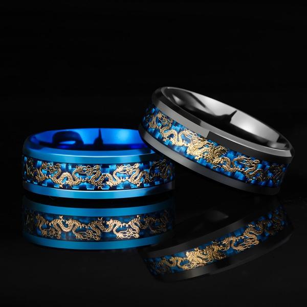 Blues, 8MM, weddingengagementring, dragonring