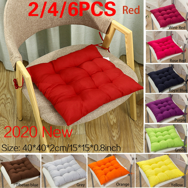 2 4 6pcs Square Office Chair Pads Soft