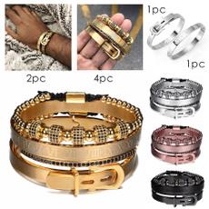 Steel, Beaded Bracelets, men accessories, hip hop jewelry