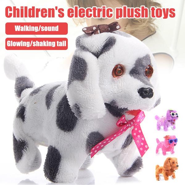 Electric Cute Plush Dog Light Led Eyes