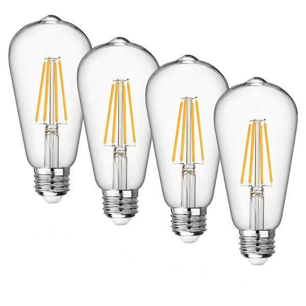 4 Pack Vintage Led Edison Bulb Dimmable