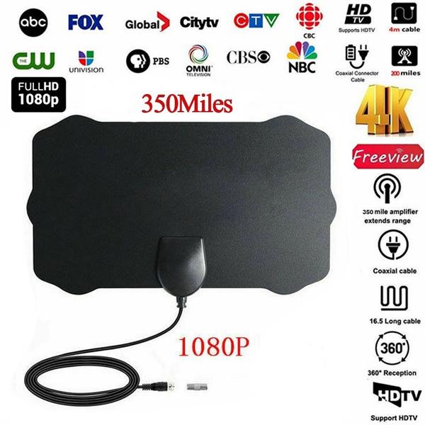 200 Mile Range TV Antenna Digital HD Skywire 4K Antena Digital Indoor HDTV 1080p