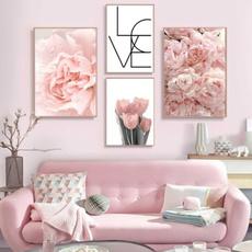 wallartcanva, pink, Decor, Flowers