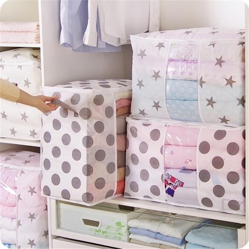 Clothes Quilt Blanket Storage Bag Organizer Foldable Zipper Box US