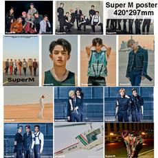 superm, K-Pop, art, wallartposter