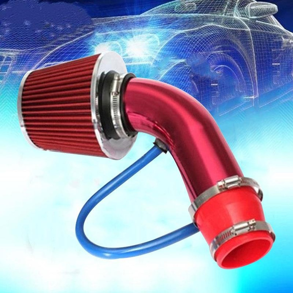 Universal 3/'/' Aluminum Car Cold Air Intake Filter Induction Kit Pipe Hose System