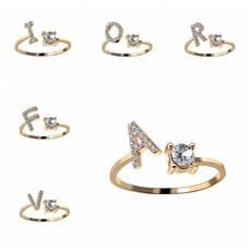 adjustablering, crystal ring, Love, wedding ring