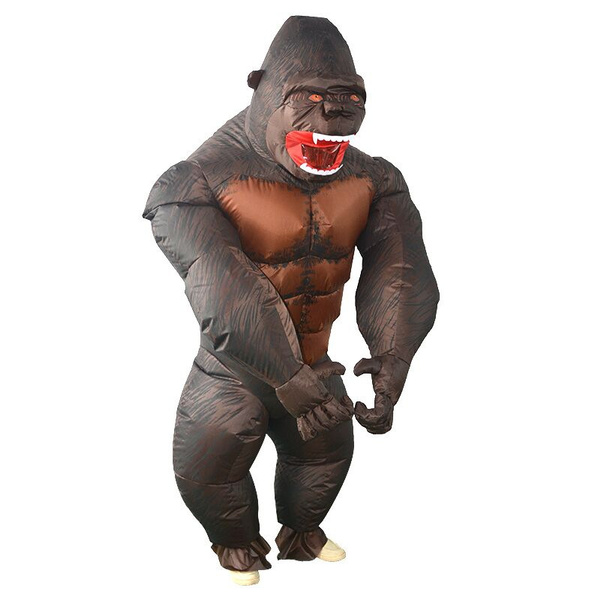 Brand New Inflatable King Kong Gorilla Ape Adult Costume