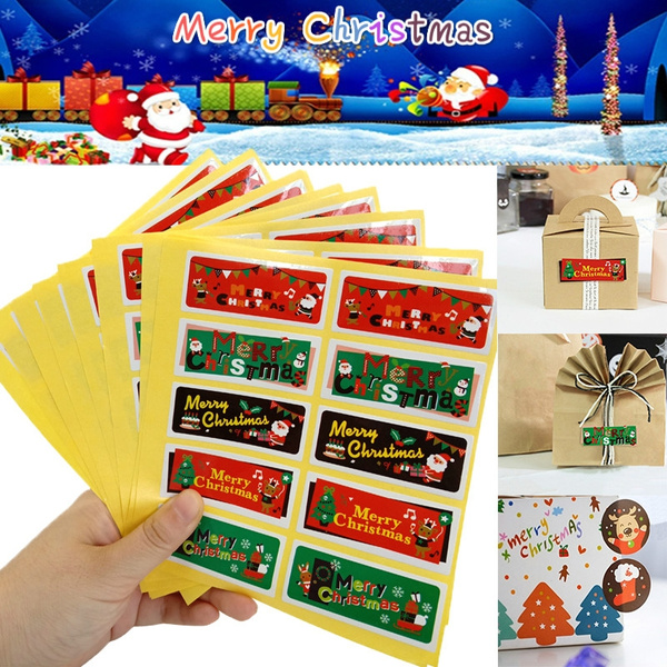 50//100Pcs Long Handmade Label Cake Packaging Sealing Kraft Sticker Baking DIY