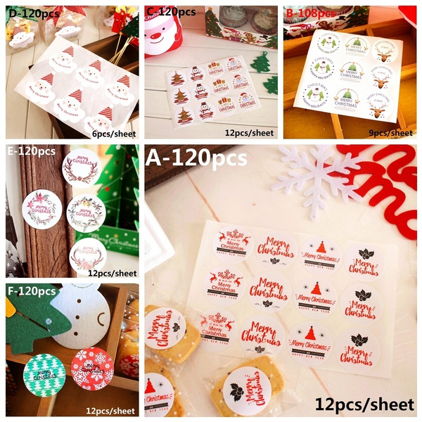 Sealing Craft Merry Christmas Package Label Gift Paper Sticker Seal Label