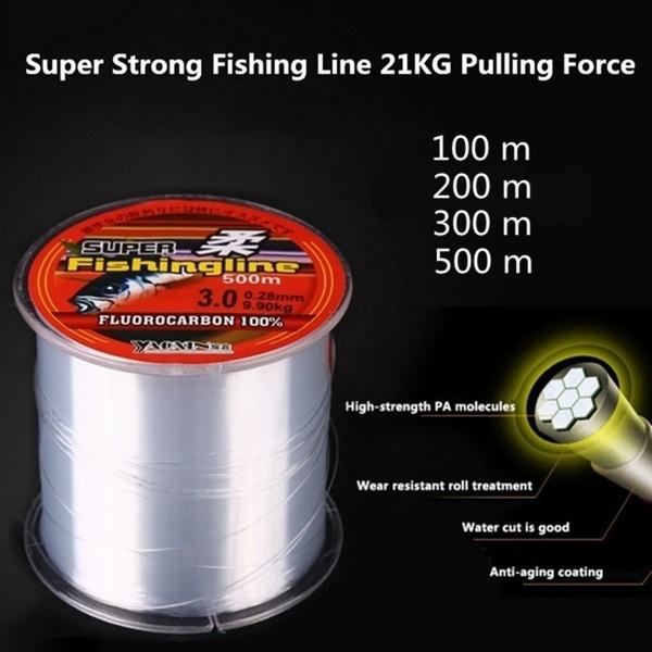 Strong Fishing Line Japanese 100m Nylon Transparent Fluorocarbon Tackle Lin U2K6
