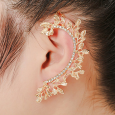 korea, leaf, Jewelry, Stud Earring