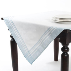Tableware, plaid, Turquoise, Tables