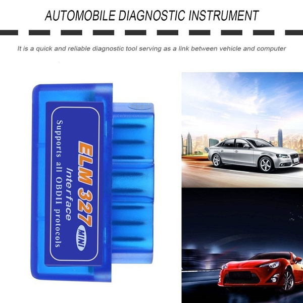 Mini Portable ELM327 V2.1 OBD2 II Diagnostic Car Auto Interface Scanner Blue Premium ABS Diagnostic Tool