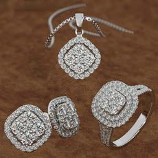 Sterling, Fashion, Princess, Bridal Jewelry Set