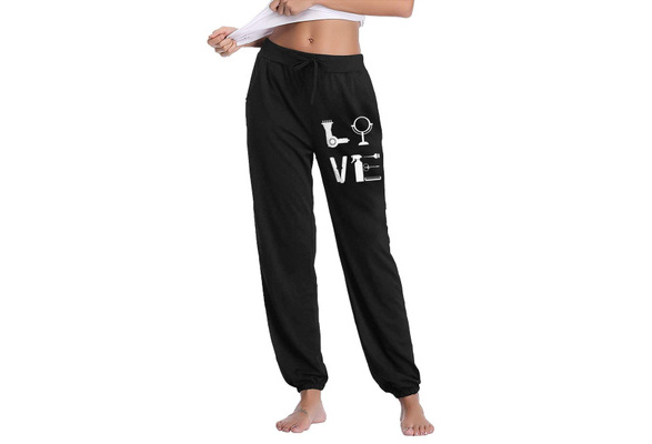 Mens Fashion Love Hairdresser Jogger Sweatpant Workout Gym Shorts