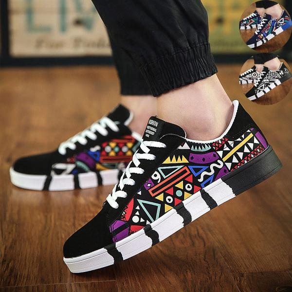 Men's Casual Flat Shoes Fashion Canvas