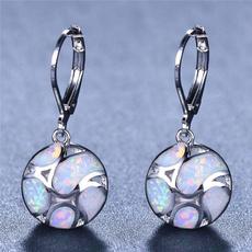 Sterling, opalearring, 925 sterling silver, wedding earrings