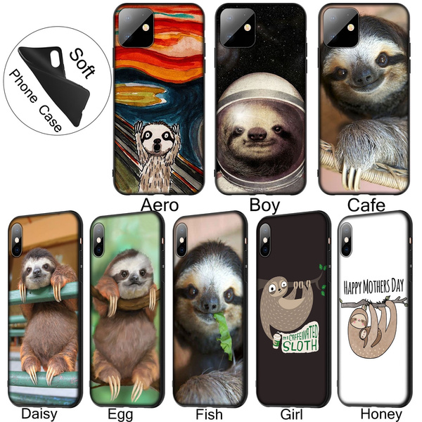 CAFFEINATED SLOTH iphone case