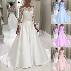 gowns, Plus Size, Lace, Long Sleeve