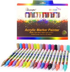Acrylic Paint Markers 36 24 12 Colors Medium Point Acrylic
